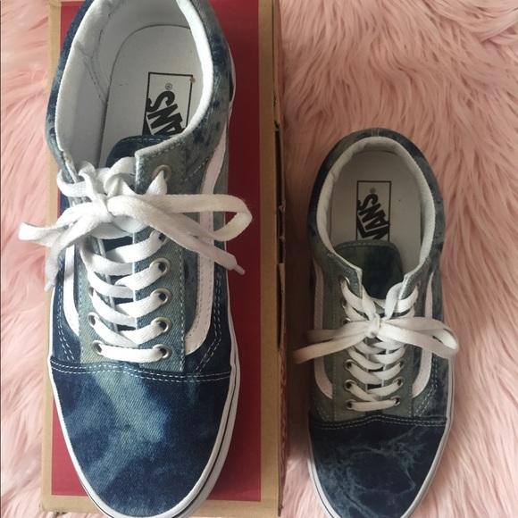 89380a00a2 Vans Old Skool Acid Denim Skater Shoe